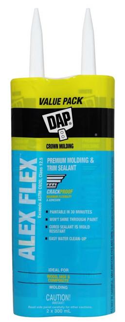 Alex Flex Premium Molding & Trim Sealant  White, Value Pack 2x300ml