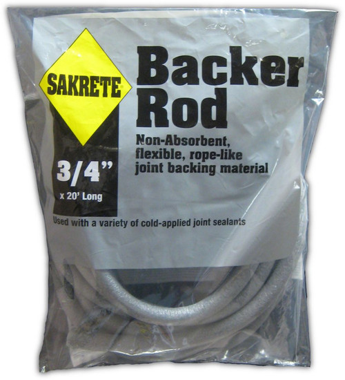 "SAKRETE Backer Rod, 3/4"" x 20 ft"