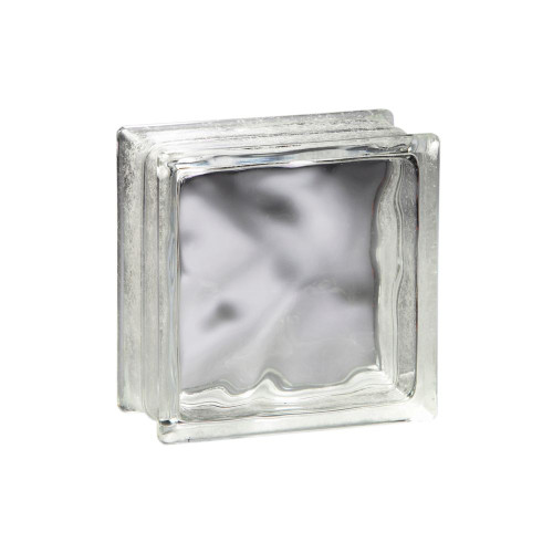 8 Inch X 8 Inch X 3 Inch DECORA THINLINE Pattern GLASS BLOCK, case of 10
