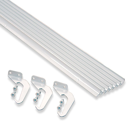 White Aluminum Rain Dispersing Eavestrough  10-Pack