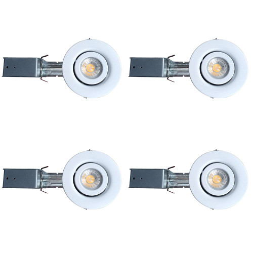 3 1/4 Inch GU10 LED Gimbal Trim Kit 4 Pack