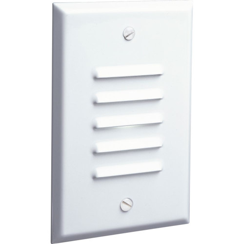 Progress LED White Vertical, Louvered Step Light