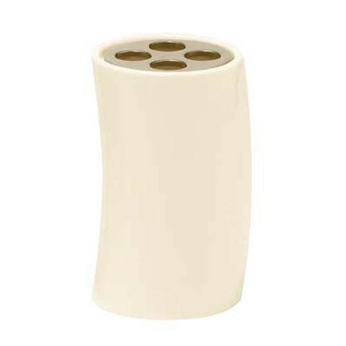 Jameson Toothbrush Holder White Ceramic/Polished Nickel Trim