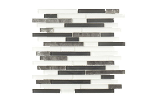Baby Grand Keys 13.125 Inch . x 11.875 Inch . x 6mm Glass Mosaic