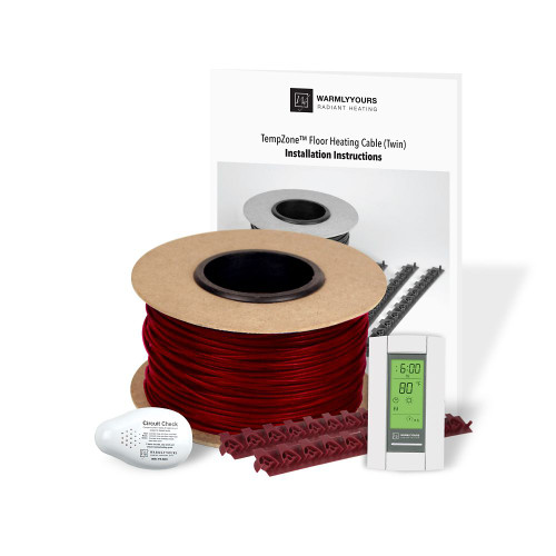 Warmlyyours Heating Cable Kit System, 120 Volts, 40  Square Feet