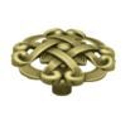 1-1/2  Weave Pattern Round Knob, 1 per pkg