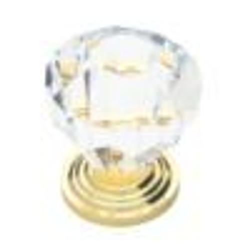 1-1/4  Acrylic Faceted Knob, 1 per pkg