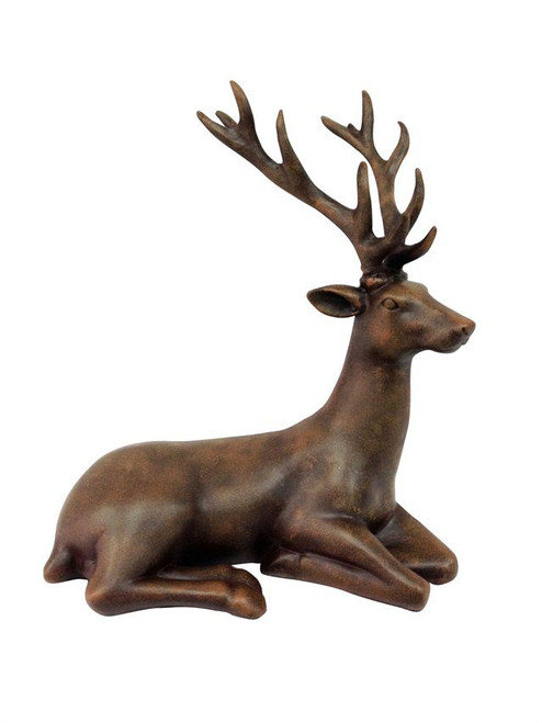 12 Inch BROWN SITTING REINDEER