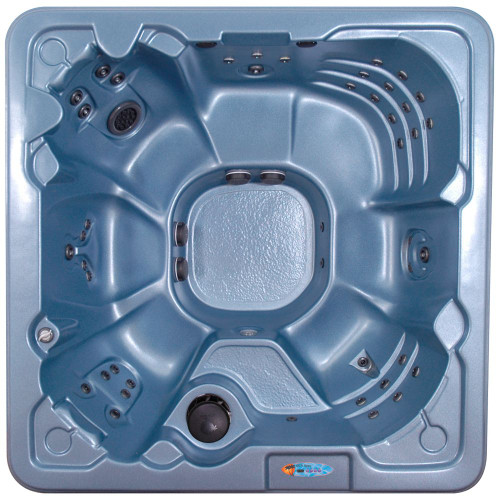 Cape Coral Blue Denim 8-Person 60-Jet Spa with Polar Insulation and Hard Cover