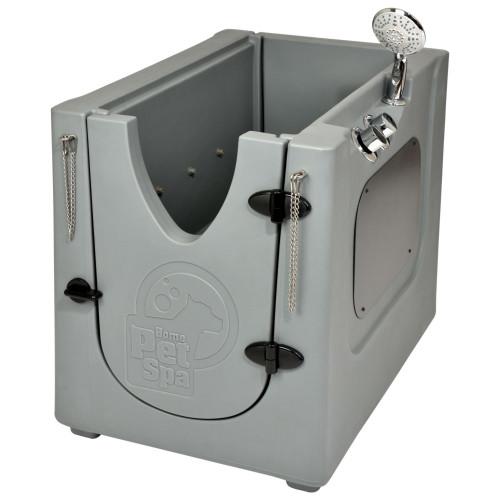 Pet Wash Enclosure with Removable Shelf & Wheels