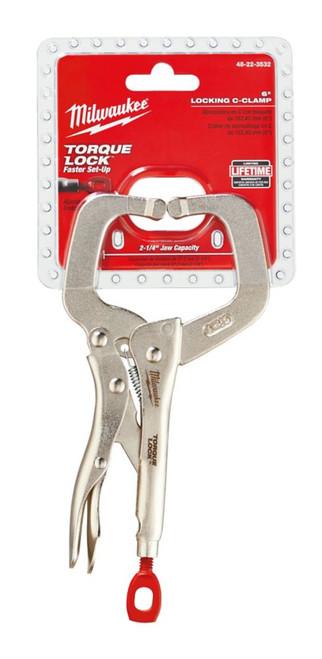 6 Inch  TORQUE LOCK Locking C-Clamp Regular Jaws