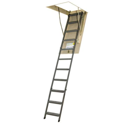 Attic Ladder (Metal Basic) OWM 22 1/2 x 54 300lbs 10ft 1in