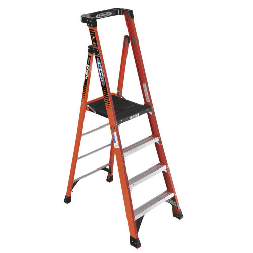 10 feet Reach Fiberglass Podium Ladder with 300 Lb. Load Capacity Grade IA