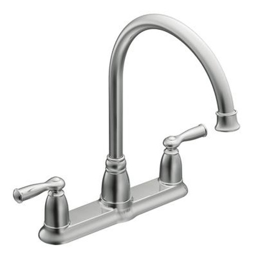Banbury 2 Handle Kitchen Faucet - Chrome Finish