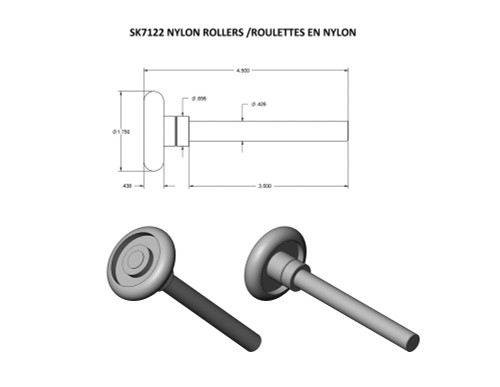 "1-7/8"" Nylon Rollers (2)"