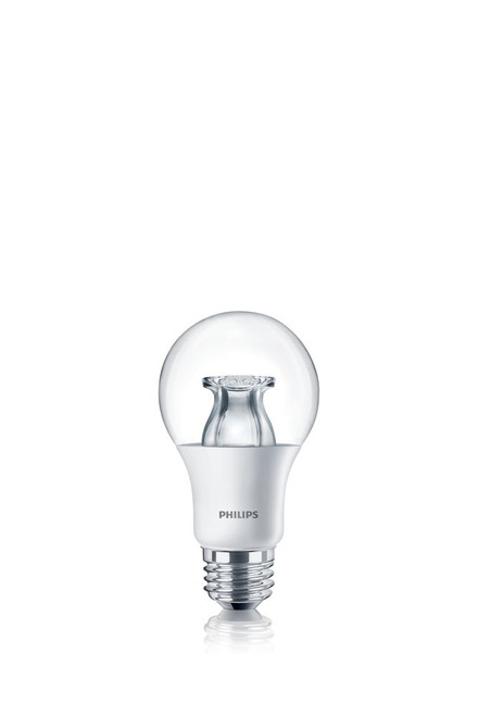 LED 60W A19 Clear Soft White WarmGlow (2700K - 2200K) - Case Of 4 Bulbs
