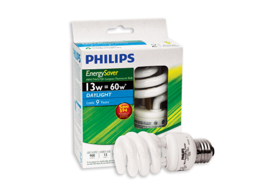CFL 13W = 60W Mini Twister Daylight (6500K) - Case of 12 Bulbs