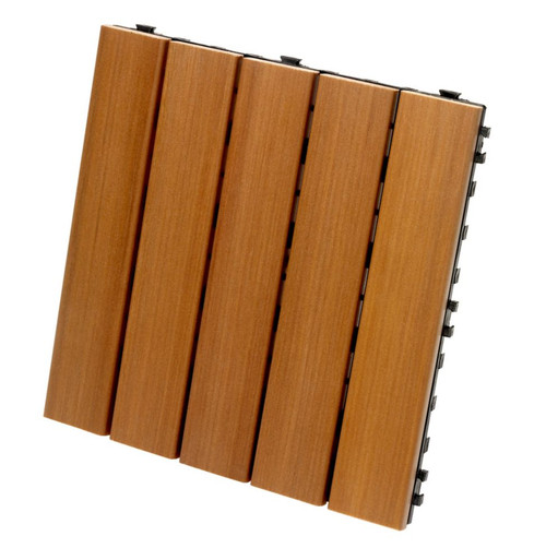 Deck and Balcony Tiles, Cedar, 10 tiles per box