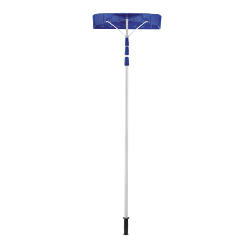 Snow Joe 21-Foot Twist-N-Lock Telescoping Snow Shovel Roof Rake With 6-Inch By 25-Inch Poly Blade