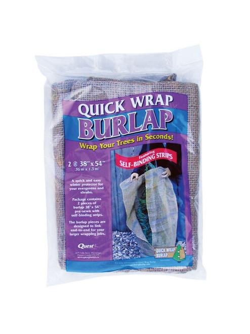 Select Quick Wrap Burlap  - 38x 54 2 pc