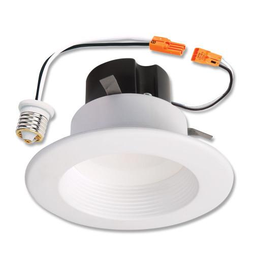 4 Inch. LED Retrofit Baffle Trim, White, 4000K