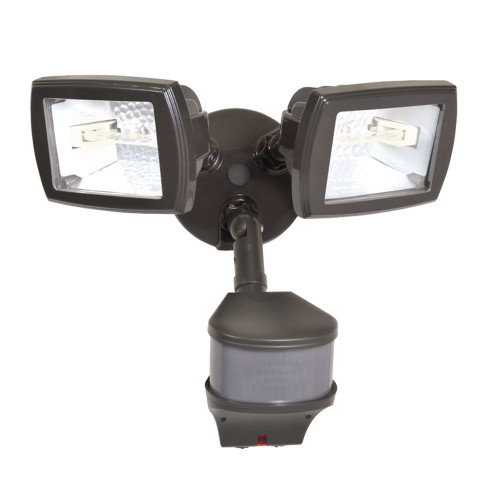 All-PRO 270° Motion Activated 300w Twin Bronze Halogen Security Floodlight