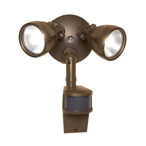 All-PRO 180° Motion Activated 200w Twin Bronze Bullet Style Halogen Security Floodlight