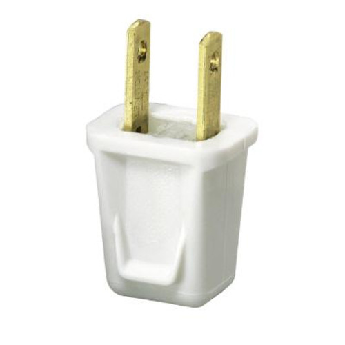 Easy To Wire Plug - White - Pkg Of 2