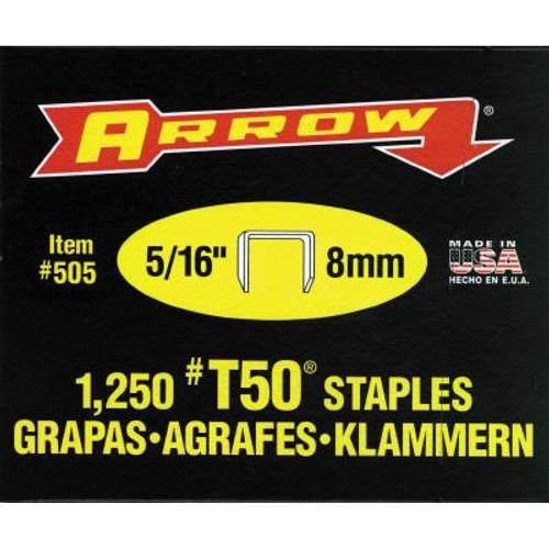 Arrow T50 5/16in Staples - Box of 1000