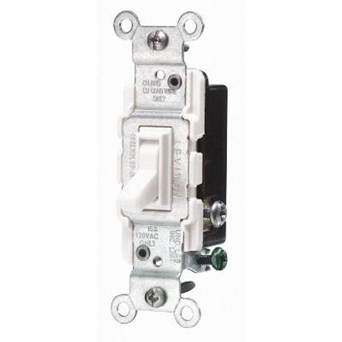 15 Amp 3 Way Quiet Wall Switch - White