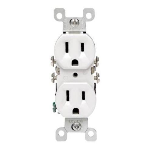 Co/alr Duplex Outlet - White