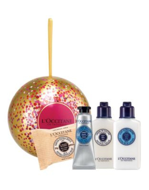 L Occitane Shea Butter Holiday Ornament Four-Piece Set
