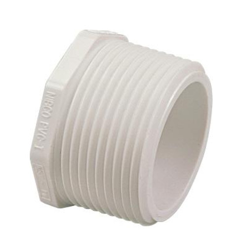 1/2 In. PVC Schedule 40 Plug MIPT