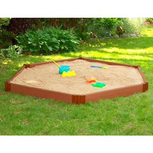 Hexagon Sandbox - 7 Feet x 8 Feet x 6 Inch