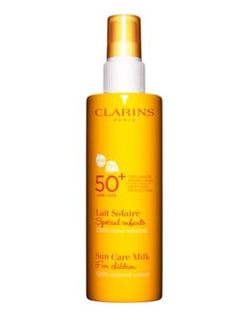 Clarins Sun Care Milk For Children UVA UVB 50plus 100 Percent mineral screen