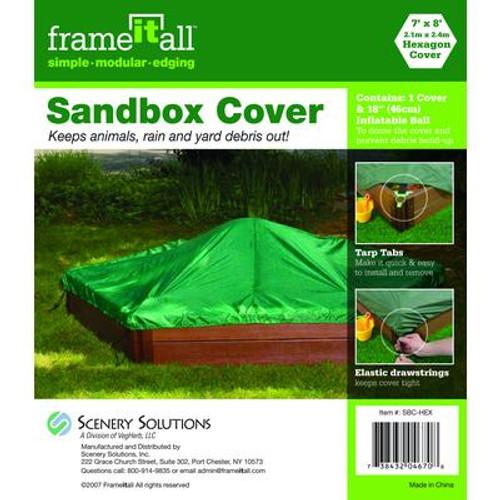 Hexagon Sandbox Cover - 7 Feet x 8 Feet