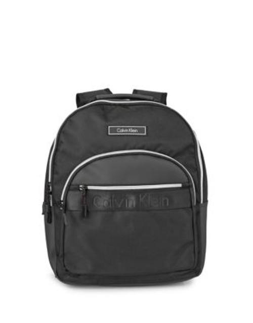 Calvin Klein Parker Nylon Backpack - BLACK/SILVER