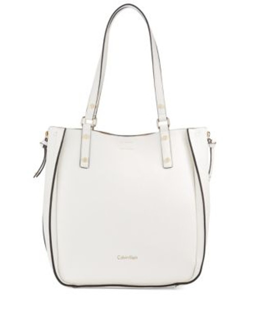 Calvin Klein Reversible Bucket Bag with Pouch - WHITE