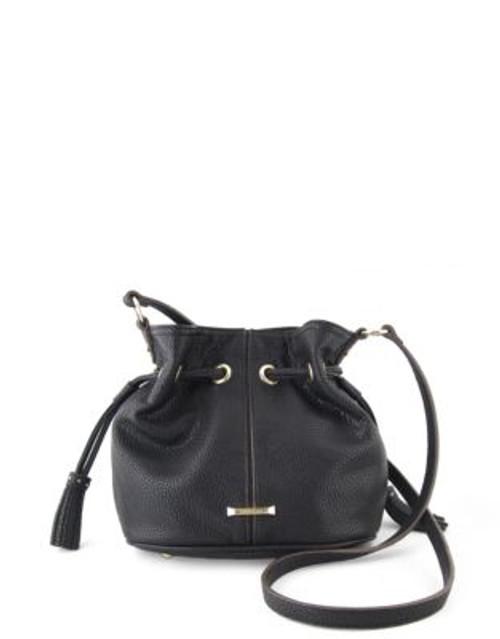 Anne Klein Kick Start Drawstring Bucket Bag - BLACK