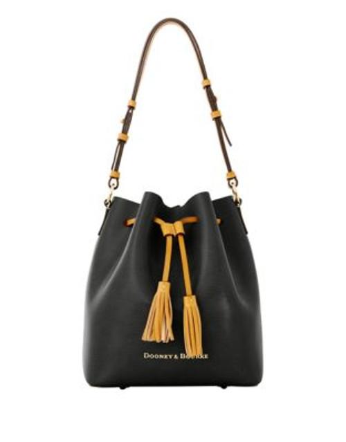 Dooney & Bourke Serena Drawstring Bag - BLACK/PINK