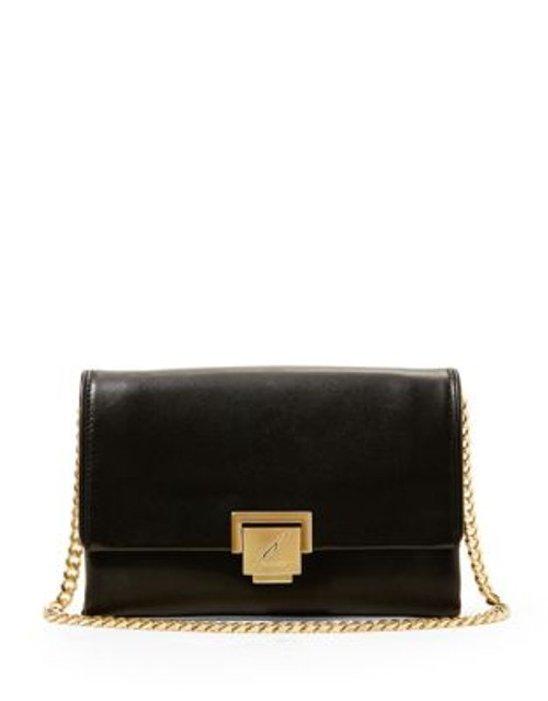 B Brian Atwood Loren Leather Handbag - BLACK