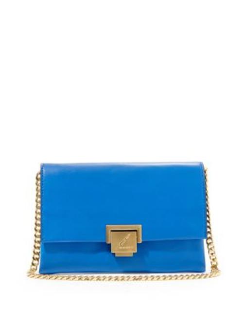 B Brian Atwood Loren Leather Handbag - COBALT