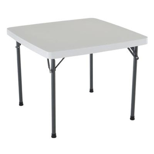 37 Inch Square Card Table - White