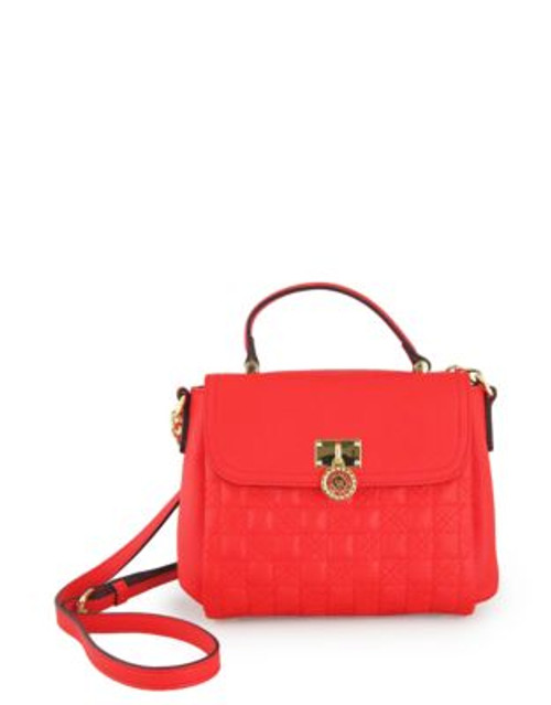 Anne Klein All In The Stitches Small Cross-Body - ORANGE