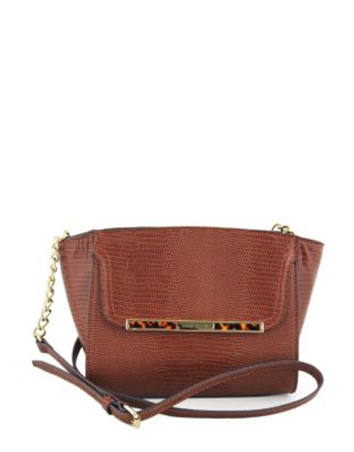 Anne Klein Out of the Shell Small Cross Body - CHESTNUT