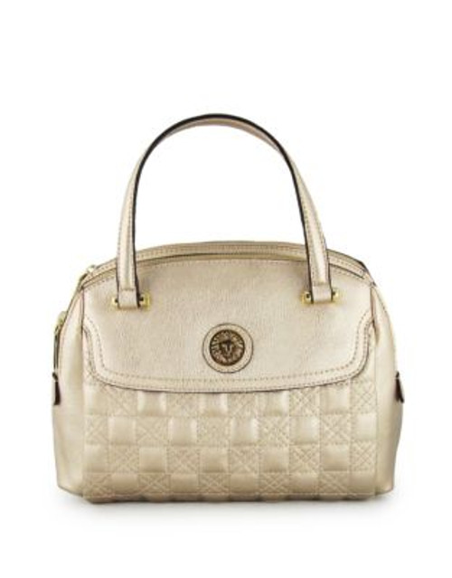 Anne Klein All In The Stitches Medium Satchel - GOLDEN HAZE