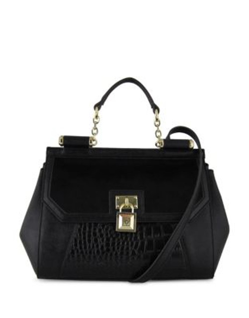 Anne Klein Greatest Hits Large Dome Satchel - BLACK