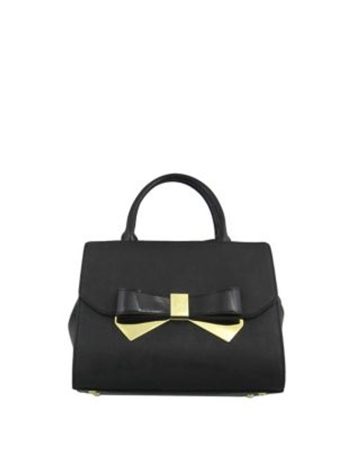 Anne Klein Bow Style Satchel Bag - BLACK