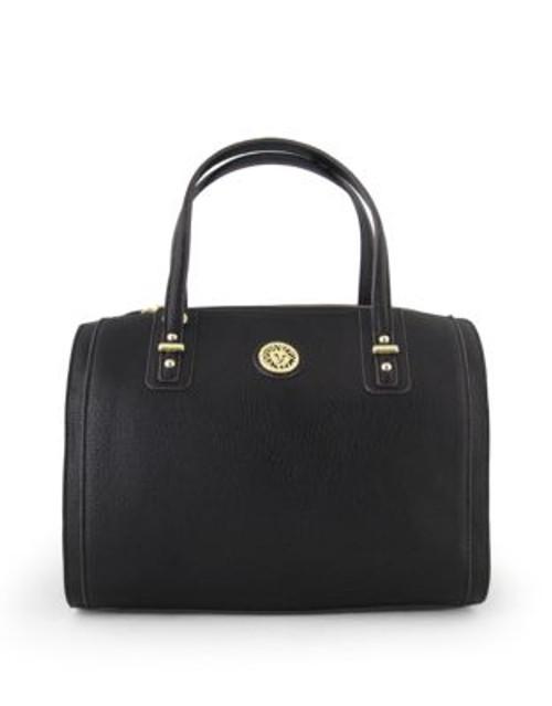 Anne Klein Front Runner Duffel Handbag - BLACK
