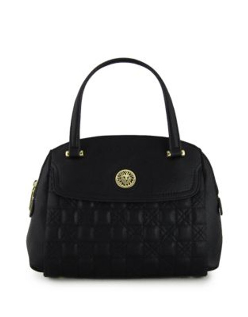 Anne Klein All In The Stitches Medium Satchel - BLACK